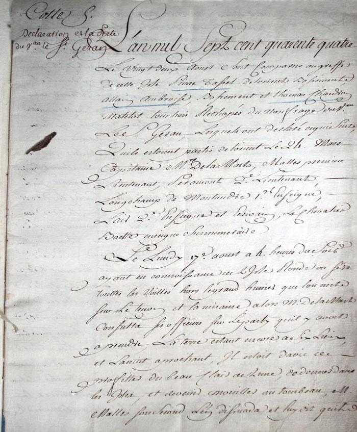 Archives françaises ile Maurice